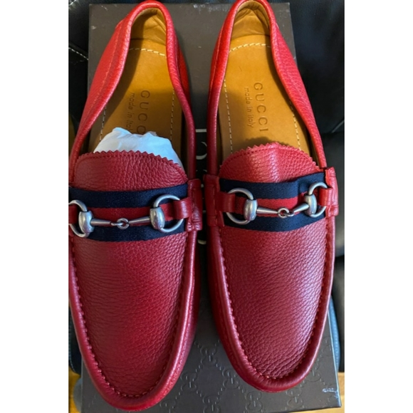 Gucci Shoes | Red Gucci Loafers Men